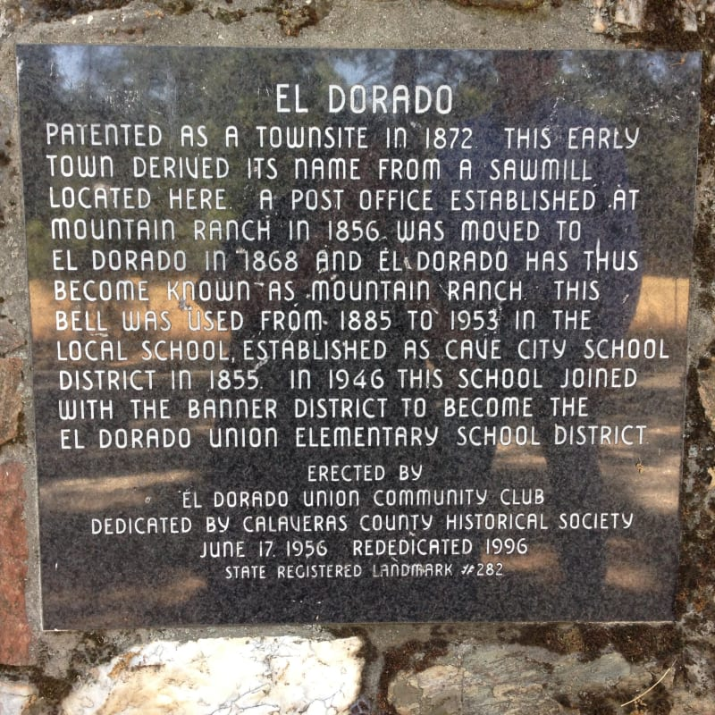 NO. 282 EL DORADO - Private Plaque