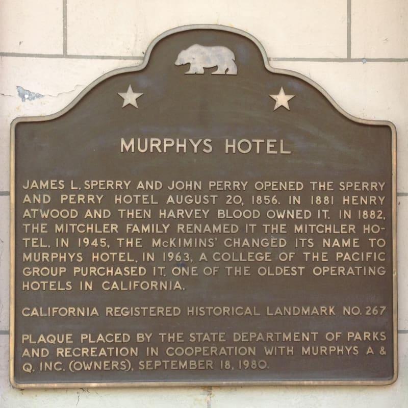 NO. 267 MITCHLER HOTEL - Murphy's Hotel State Plaque