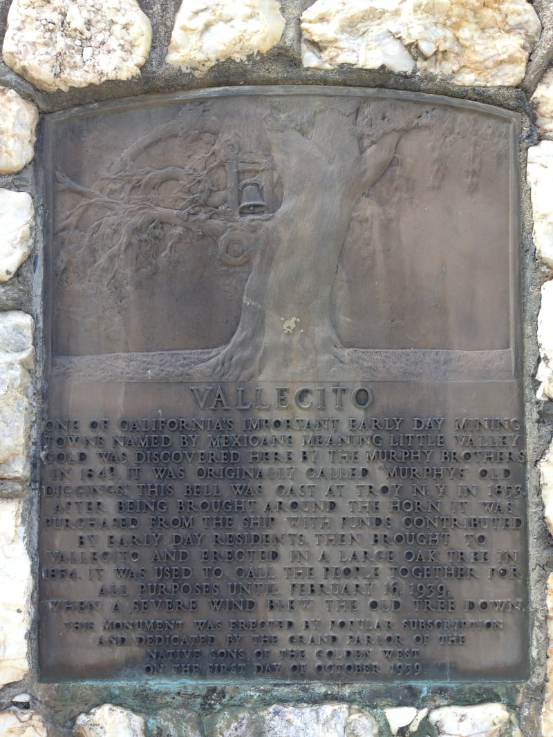 NO. 370 VALLECITO BELL MONUMENT - Plaque