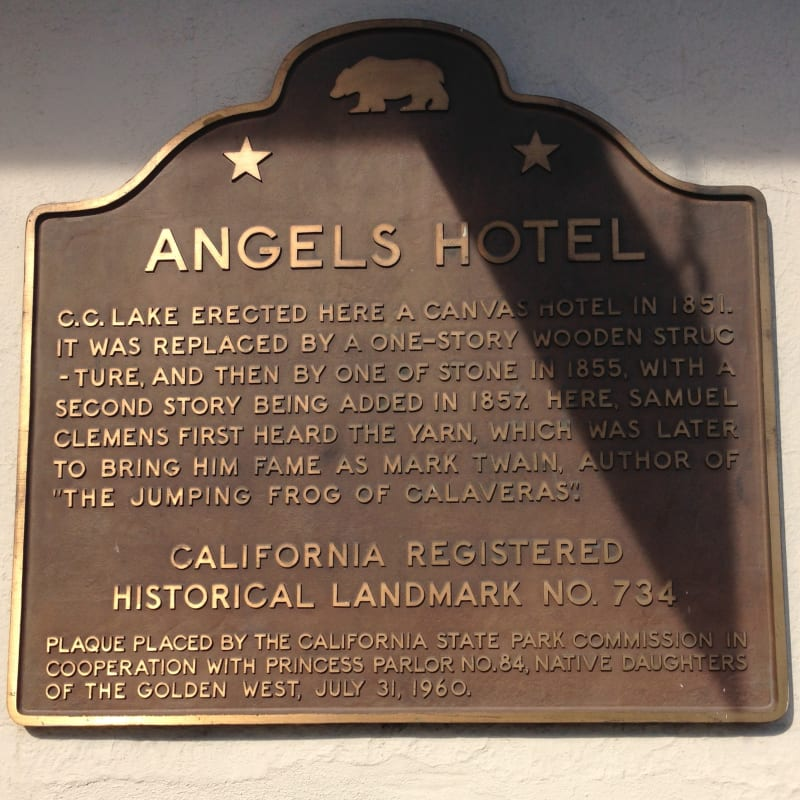 NO. 734 ANGELS HOTEL - State Plaque