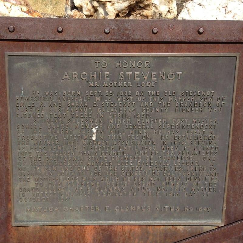 NO. 769 BIRTHPLACE OF ARCHIE STEVENOT - Private Plaque