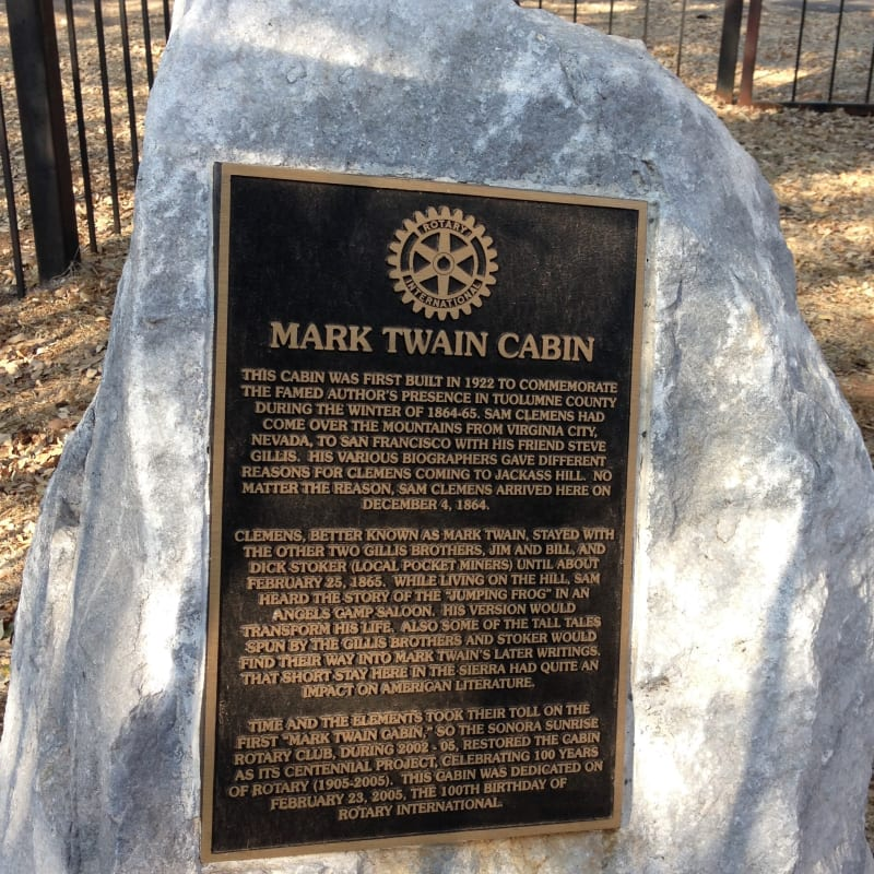 NO. 138 MARK TWAIN CABIN - Private Plaque at cabin