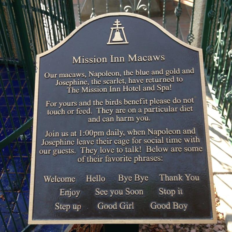 NO. 761 MISSION INN - Napoleon and Josephine