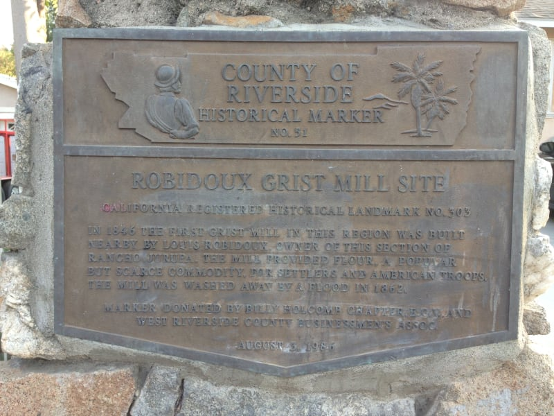 NO. 3O3 SITE OF OLD RUBIDOUX GRIST MILL -  Private Plaque