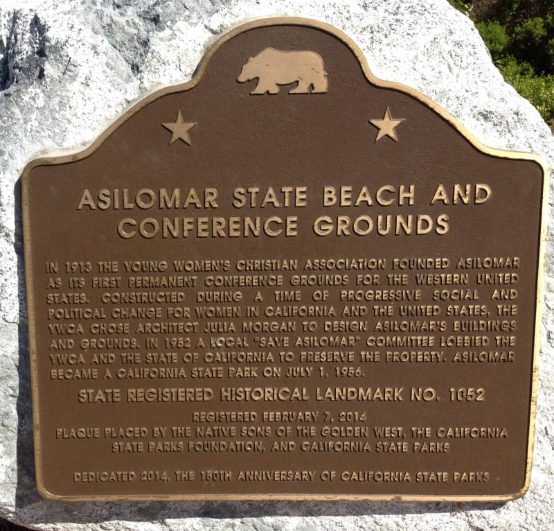 CHL #1052 - Asilomar State Beach and Conference Grounds - Plaque