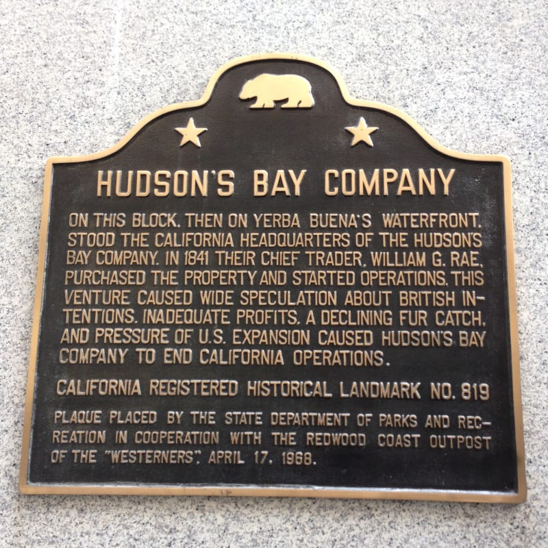 NO. 819 HUDSON'S BAY COMPANY HEADQUARTERS - State Plaque