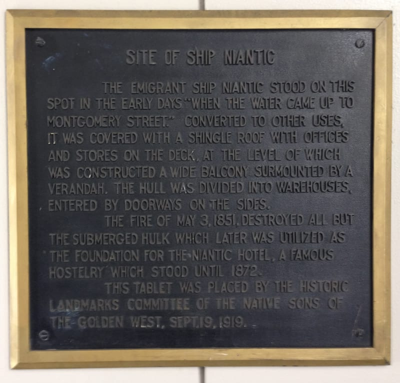 NO. 88 NIANTIC HOTEL (BUILDING) - Private Plaque