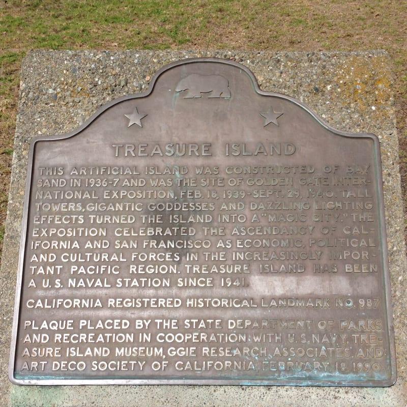 NO. 987 TREASURE ISLAND - State Plaque