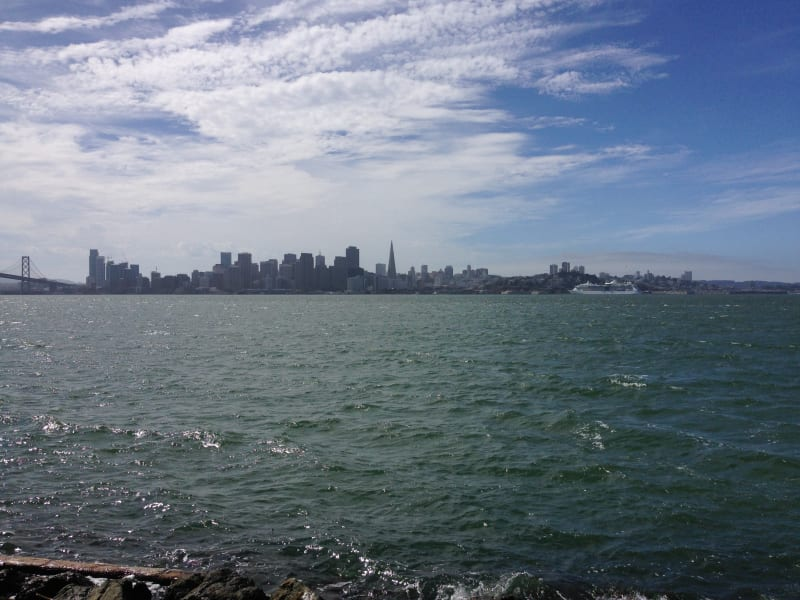 NO. 987 TREASURE ISLAND - Looking toward San Francisco from Treasure Island.
