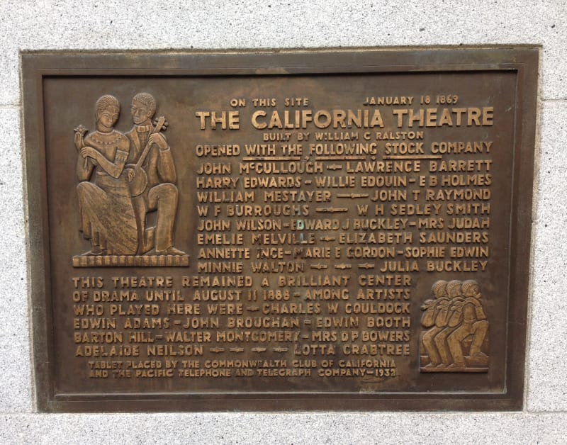 NO. 86 CALIFORNIA THEATRE - Private Plaque
