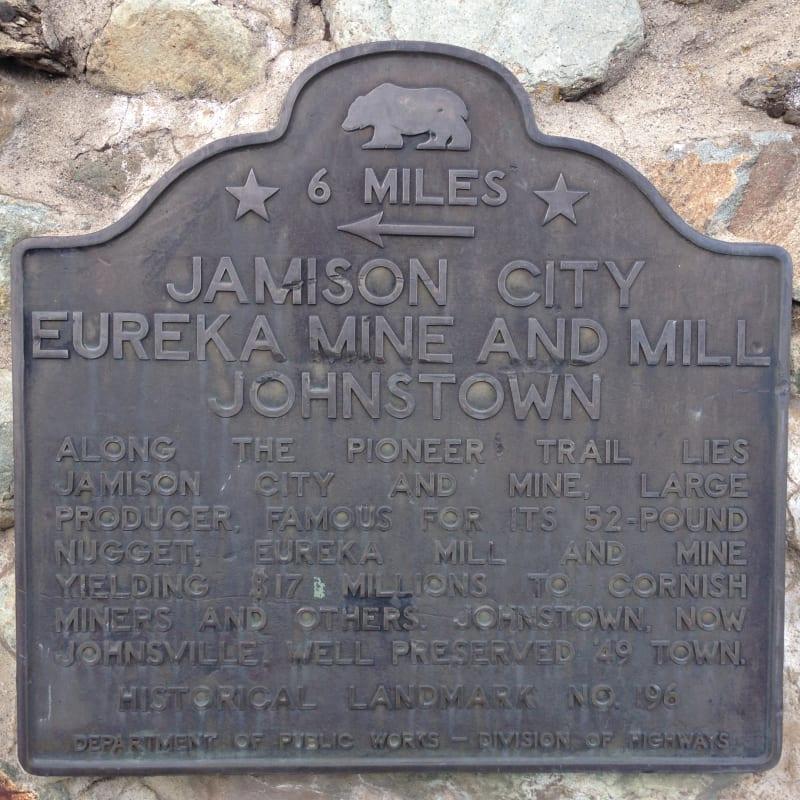 NO. 196 JAMISON, EUREKA MILLS, JOHNSTOWN, AND EUREKA MINE - 2nd Plaque