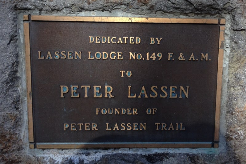 NO. 565 PETER LASSEN GRAVE - Private Plaque