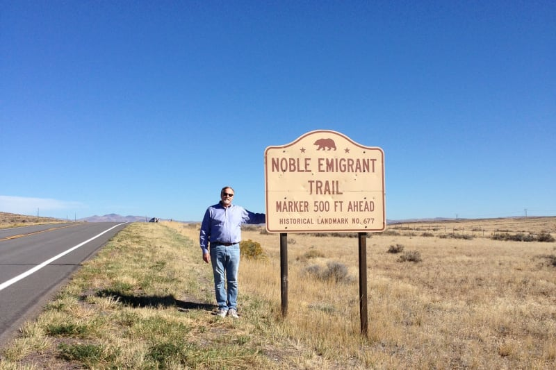 NO. 677 NOBLE EMIGRANT TRAIL - Street Sign