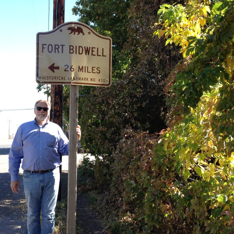 NO. 430 FORT BIDWELL - State Street Sign located in Cedarville. 41.5295138888889, -120.172761111111