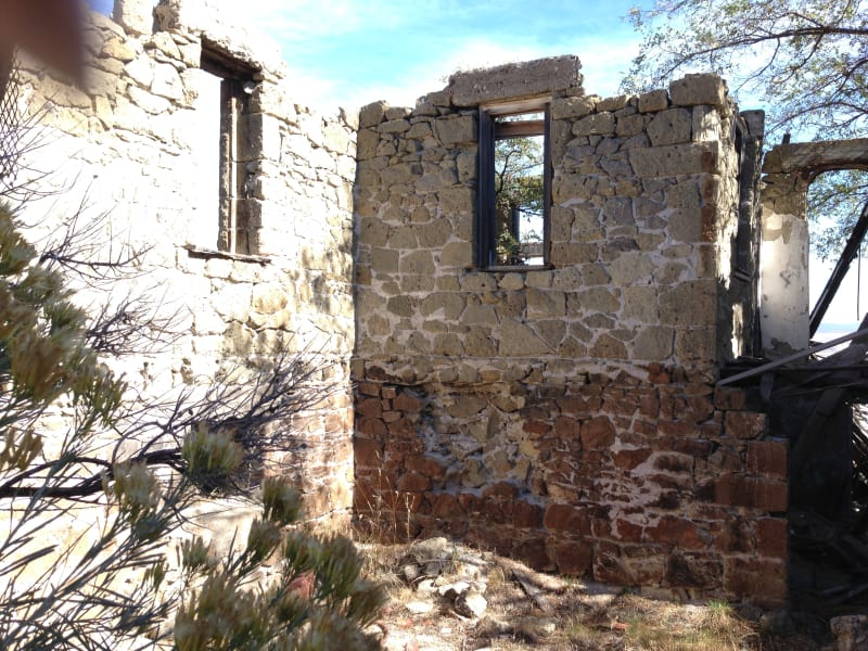 NO. 430 FORT BIDWELL - Remains of the hospital.