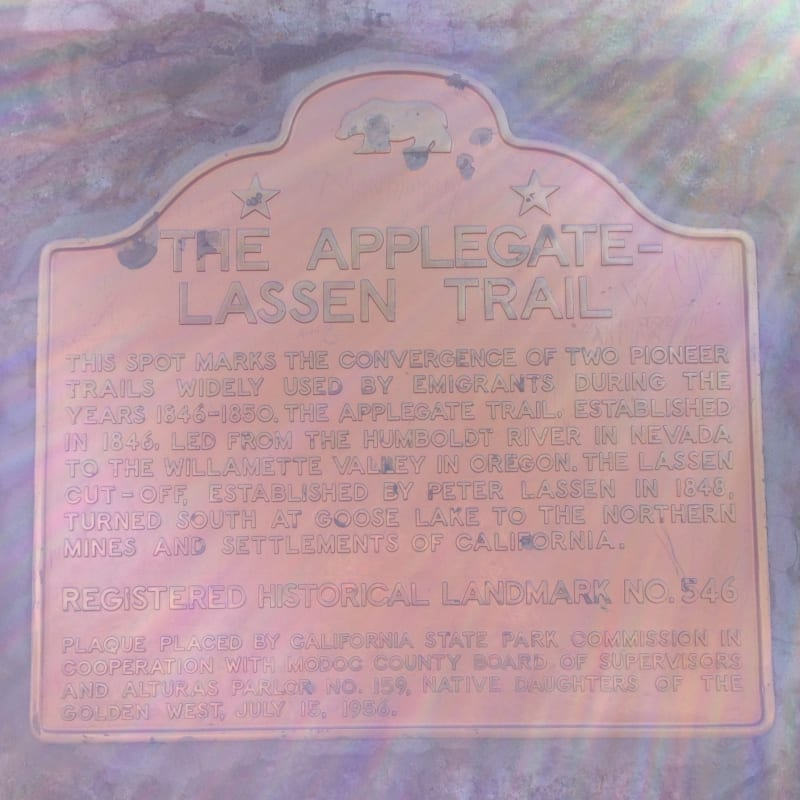 NO. 546 APPLEGATE-LASSEN EMIGRANT TRAIL (FANDANGO PASS) - State Plaque
