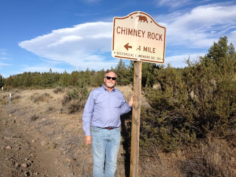 NO. 109 CHIMNEY ROCK - State Street Sign