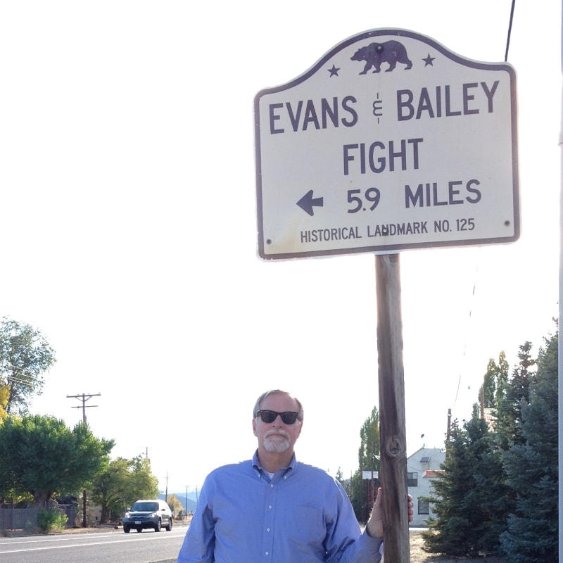 NO. 125 EVANS AND BAILEY FIGHT-  State Street Sign