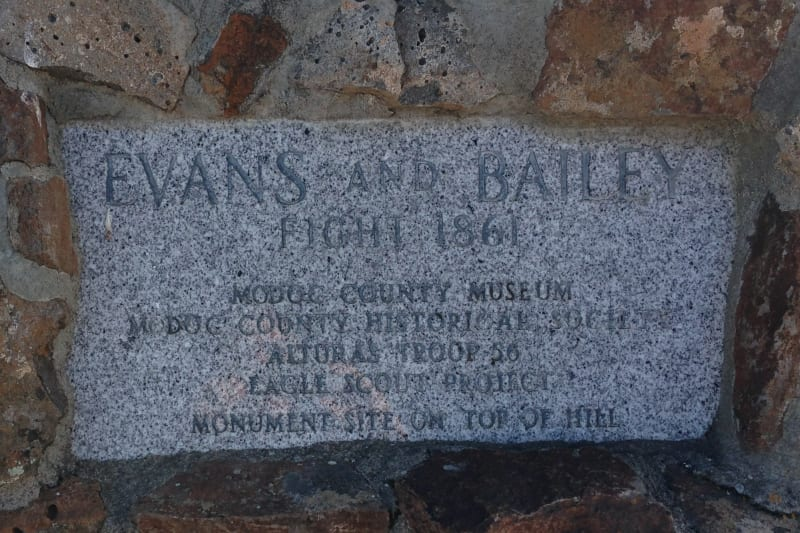NO. 125 EVANS AND BAILEY FIGHT- Private Plaque