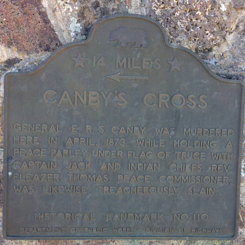 NO. 110 CANBY'S CROSS- Second State Plaque