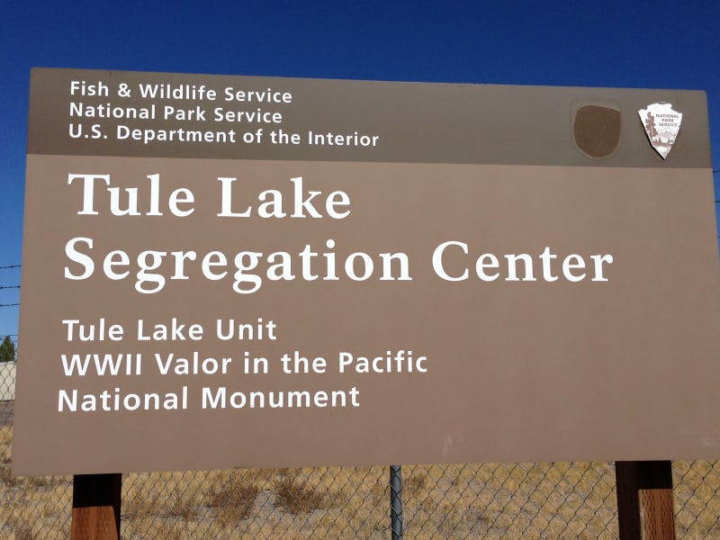 NO. 850-2 TULE LAKE RELOCATION CENTER - Sign