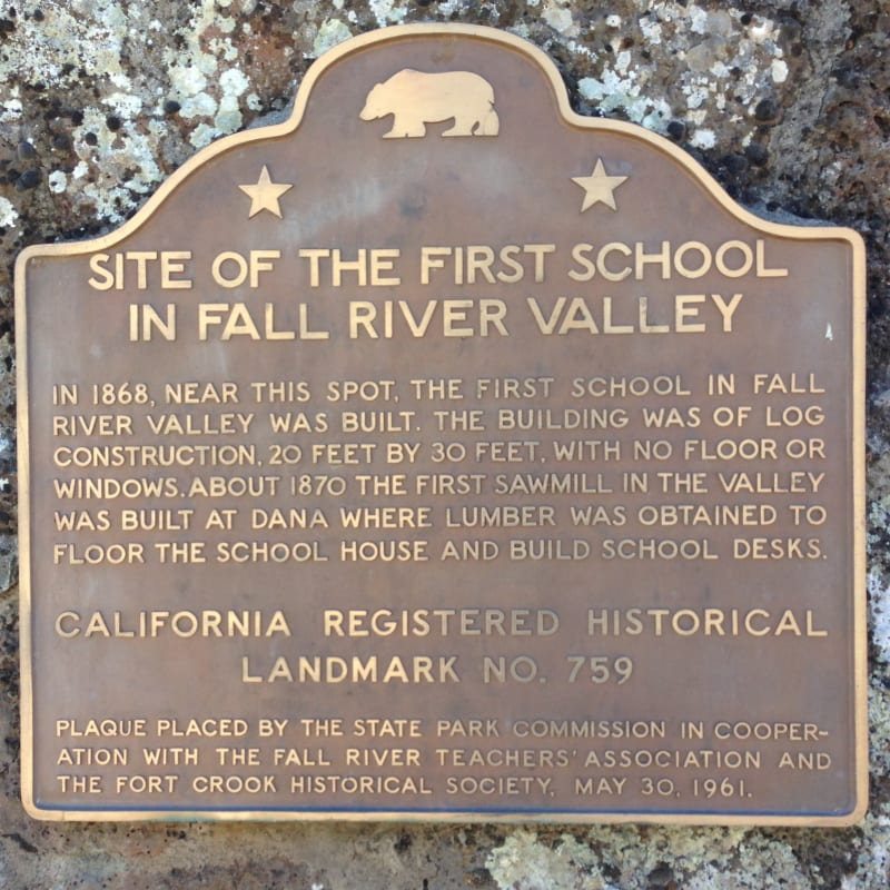 NO. 759 SITE OF FIRST SCHOOL IN FALL RIVER VALLEY - State Plaque