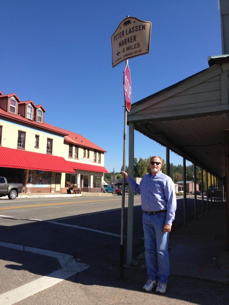 NO. 184 PETER LASSEN MARKER (SITE OF LASSEN TRADING POST) - State Street Sign