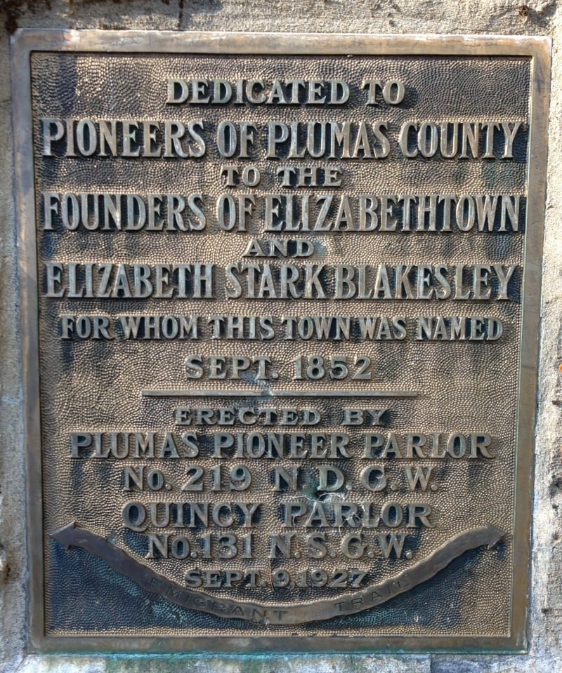 NO. 231 ELIZABETHTOWN - Private Plaque