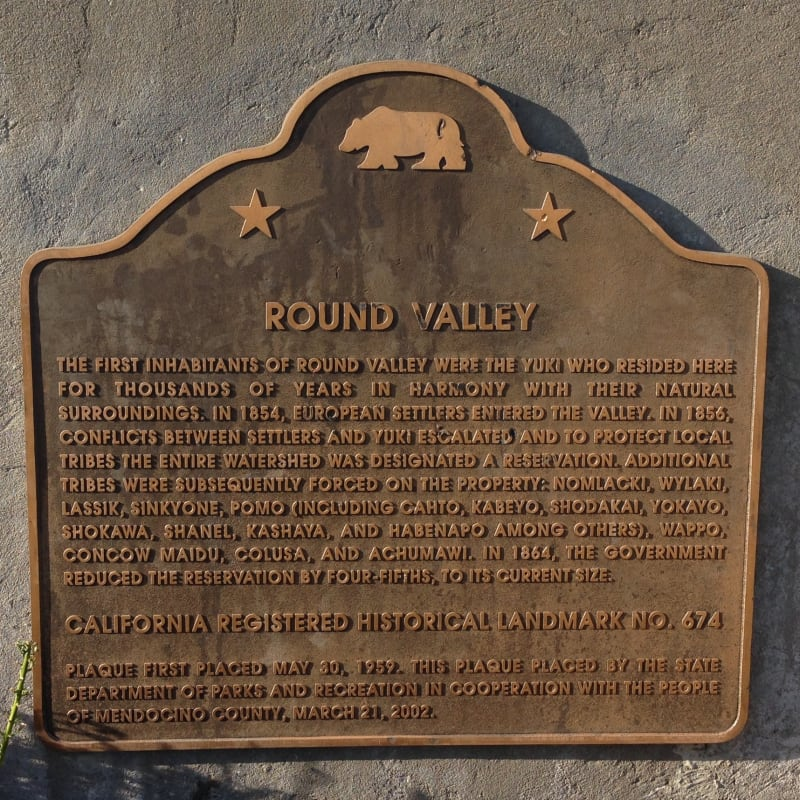 NO. 674 ROUND VALLEY - State Plaque