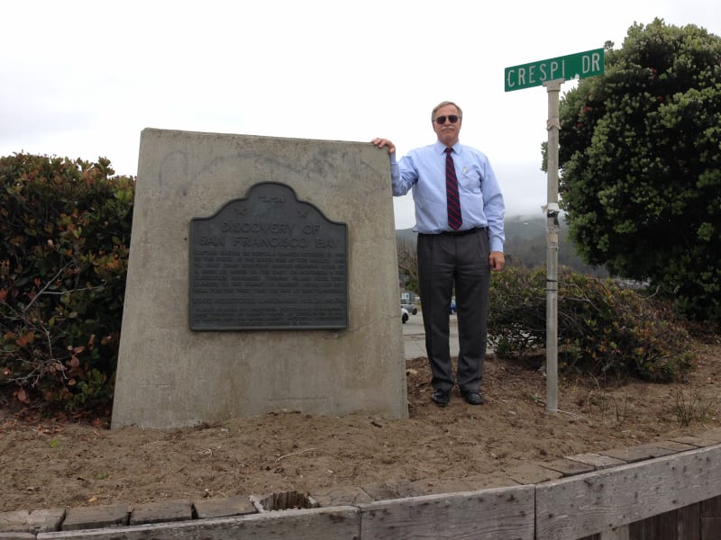 NO. 394 SITE OF THE DISCOVERY OF SAN FRANCISCO BAY - Marker