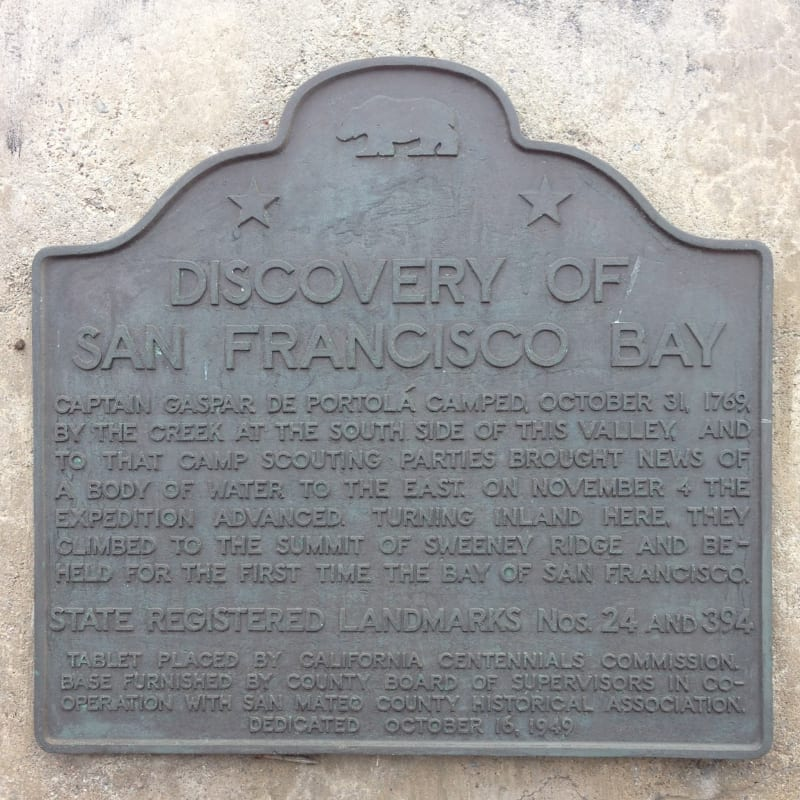 NO. 394 SITE OF THE DISCOVERY OF SAN FRANCISCO BAY - State Plaque