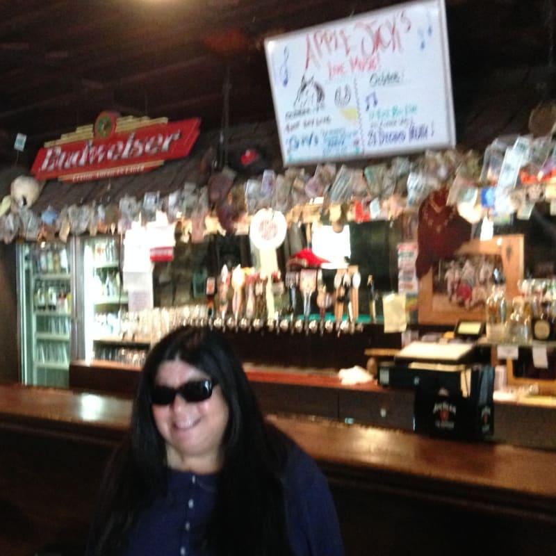 """NO. 343 OLD STORE AT LA HONDA - Interior of """"Apple Jack's"""""""