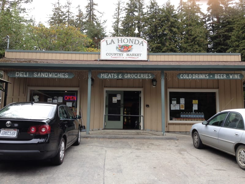 NO. 343 OLD STORE AT LA HONDA - NEW store at La Honda