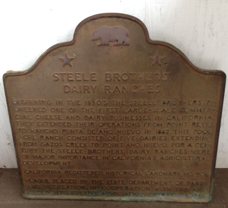 NO. 906 STEELE BROTHERS DAIRY RANCHES - State Plaque