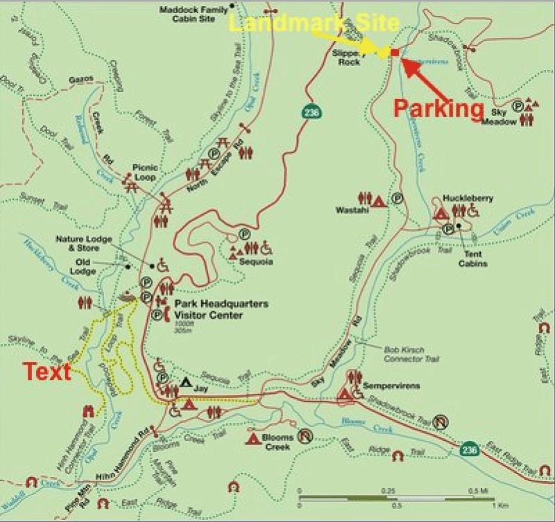 NO. 827 BIG BASIN REDWOODS STATE PARK - Map to SlipperyRock