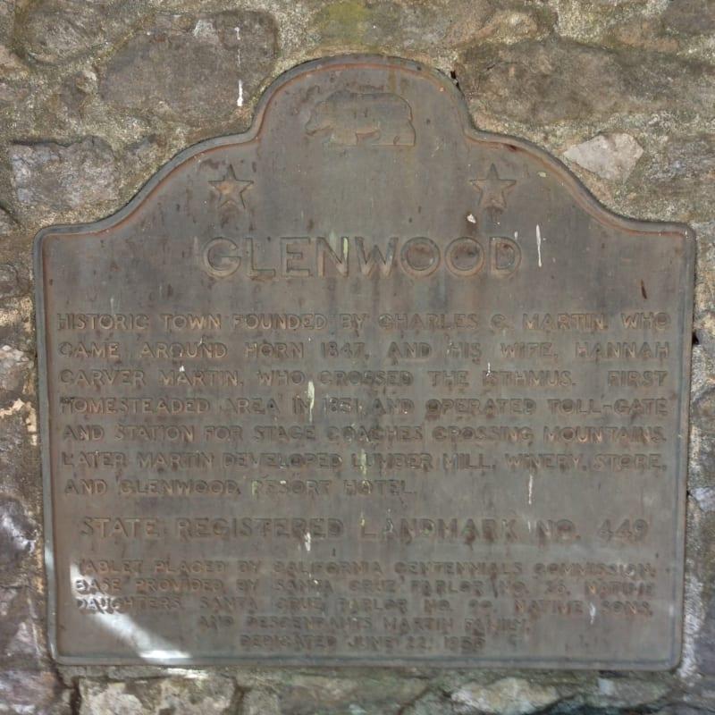 NO. 449 GLENWOOD - State Plaque