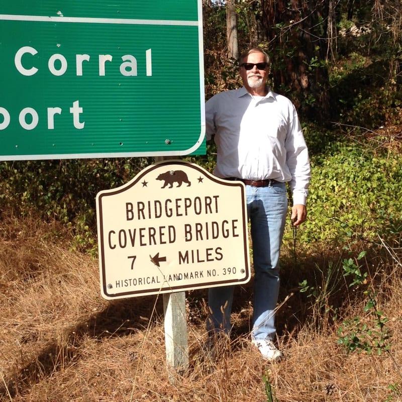 NO. 390 BRIDGEPORT (NYES CROSSING) COVERED BRIDGE - State Street Sign