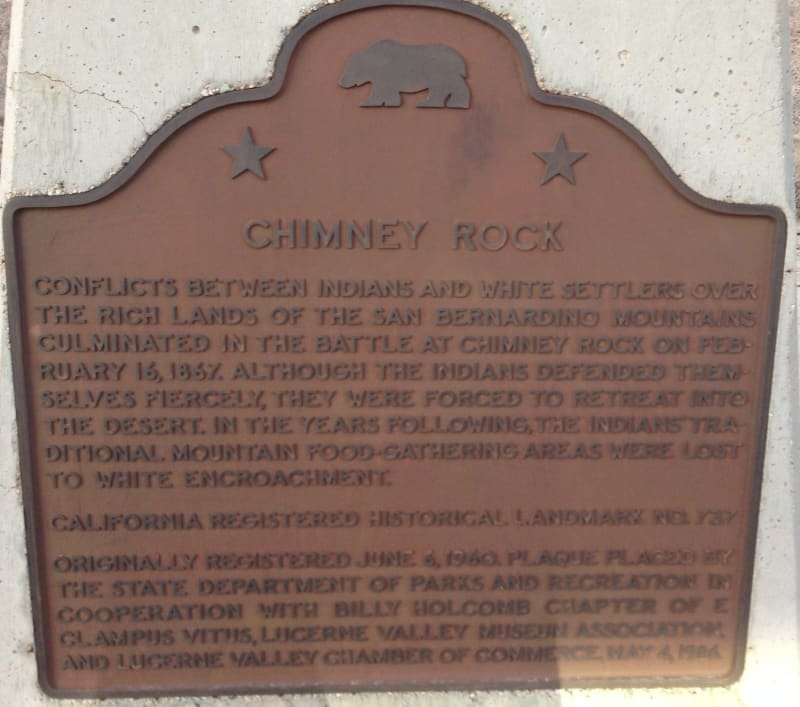 NO. 737 CHIMNEY ROCK - State Plaque