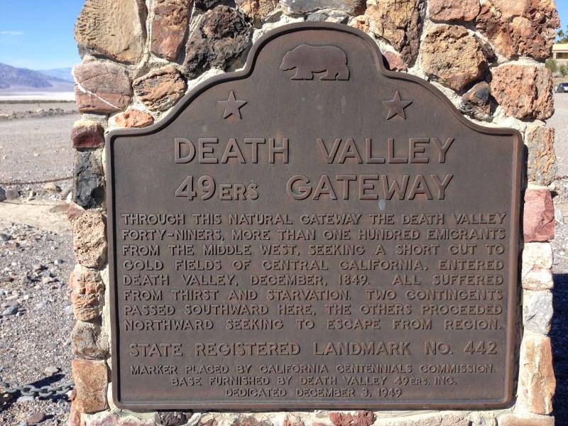 NO. 442 DEATH VALLEY GATEWAY - State Plaque
