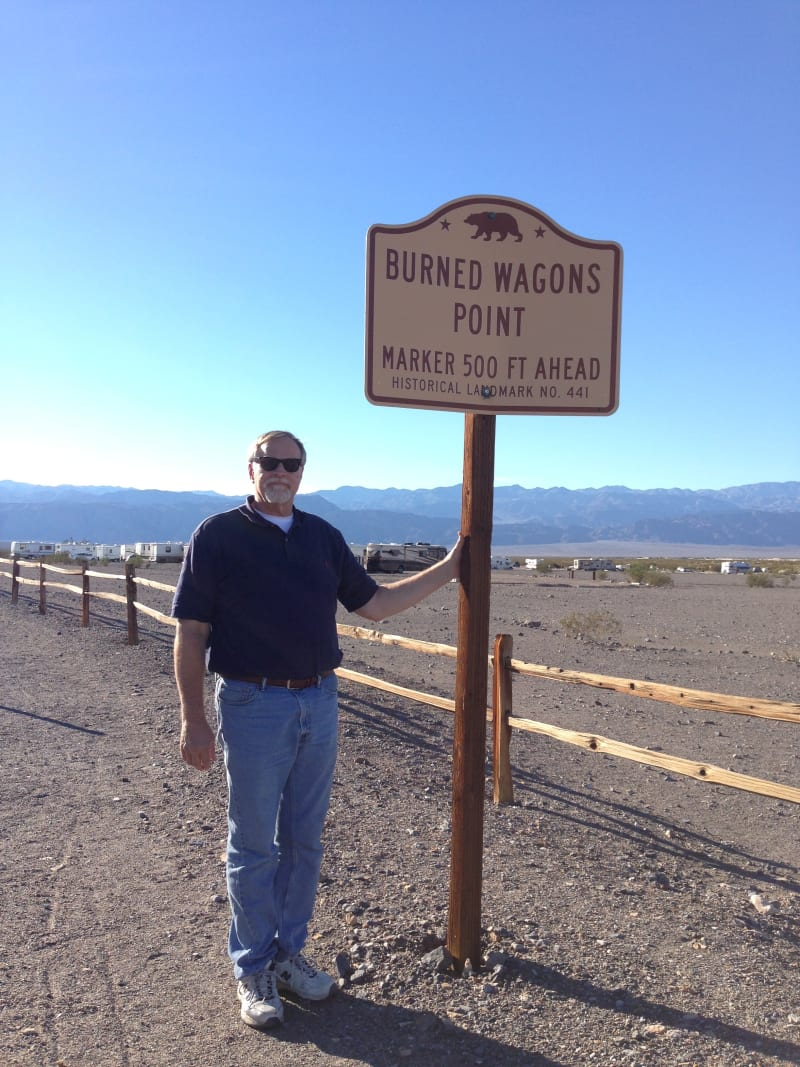 NO. 441 BURNED WAGONS POINT - State Street Sign