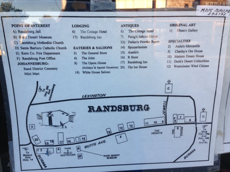 NO. 938 RAND MINING DISTRICT - Town Map