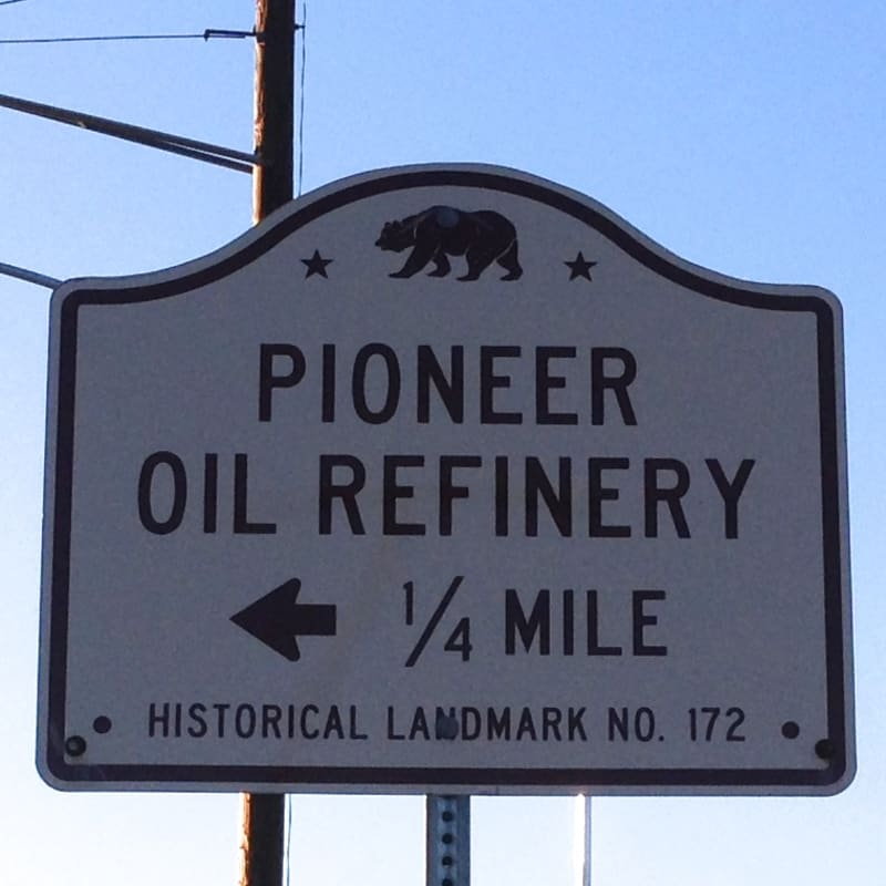 CHL #172 - Pioneer Oil Refinery = State Street Sign