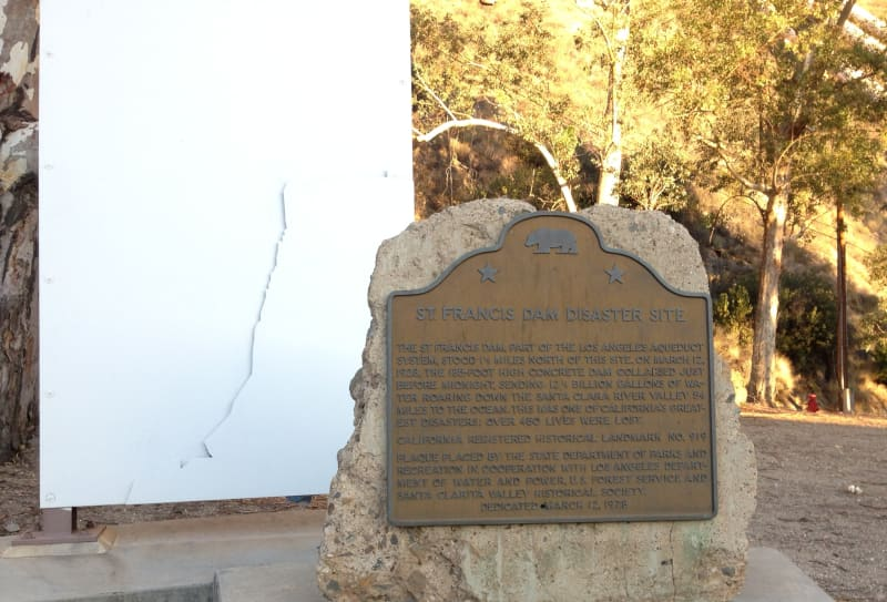 NO. 919 ST. FRANCIS DAM DISASTER SITE - State Plaque