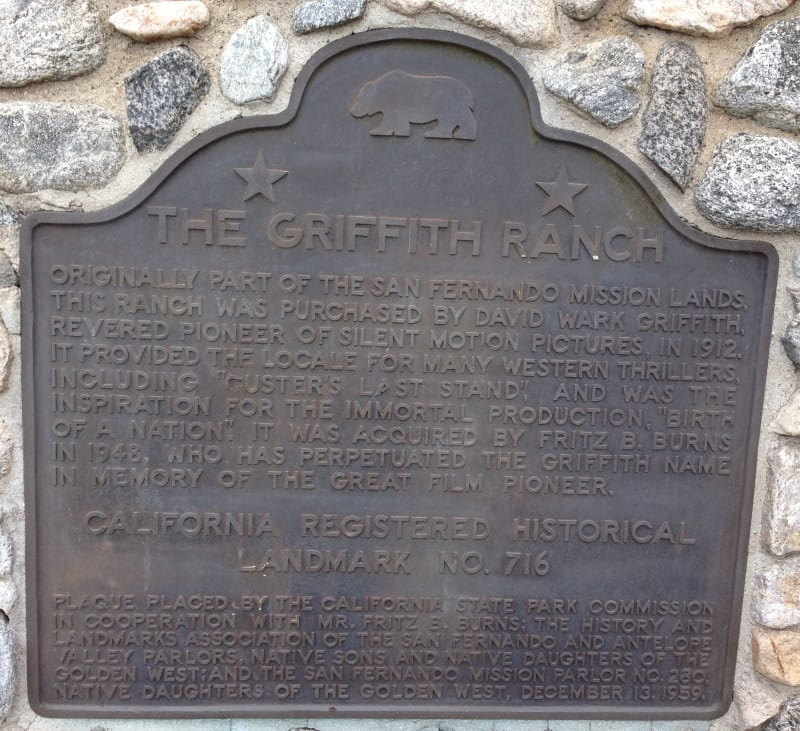 NO. 716 GRIFFITH RANCH - State Plaque