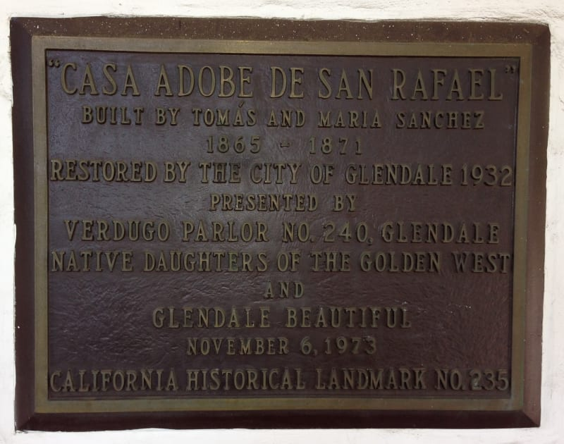 NO. 235 CASA ADOBE DE SAN RAFAEL -  Private Plaque