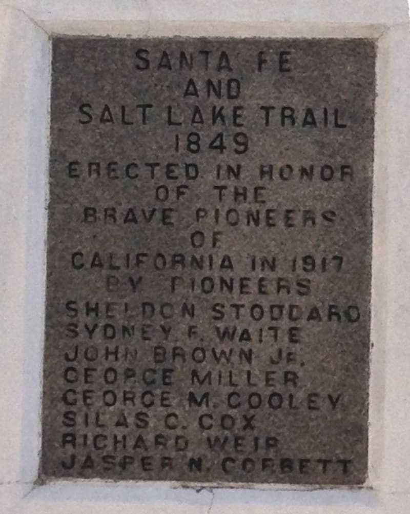 CHL #576  Santa Fe and Salt Lake Trail Monument