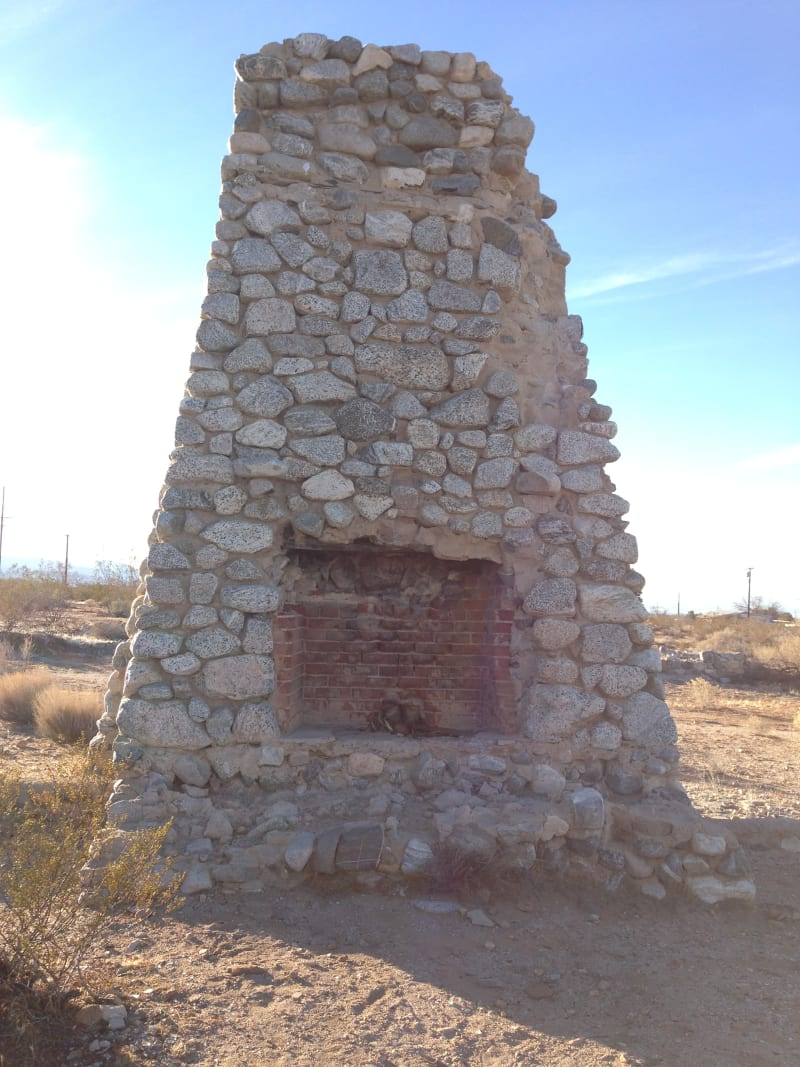 CHL No. 933 Llano Del Rio - West Fireplace
