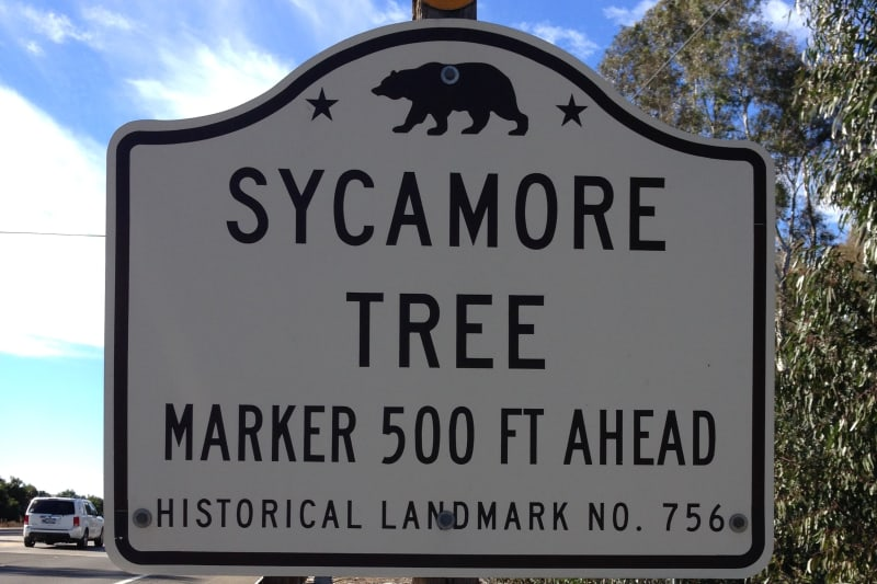 NO. 756 SYCAMORE TREE - Street Sign