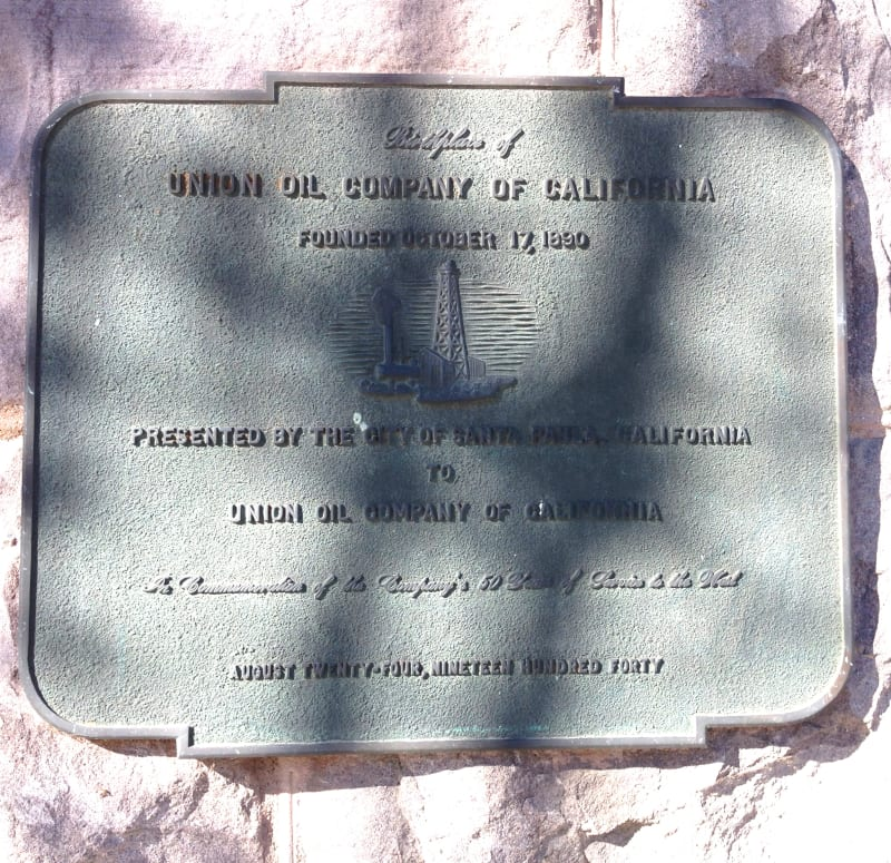 NO. 996 UNION OIL COMPANY BUILDING - Private Plaque
