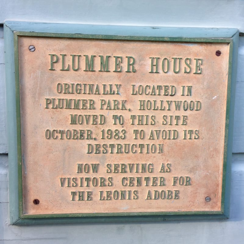NO. 160 PLUMMER HOUSE - Relocation Plaque